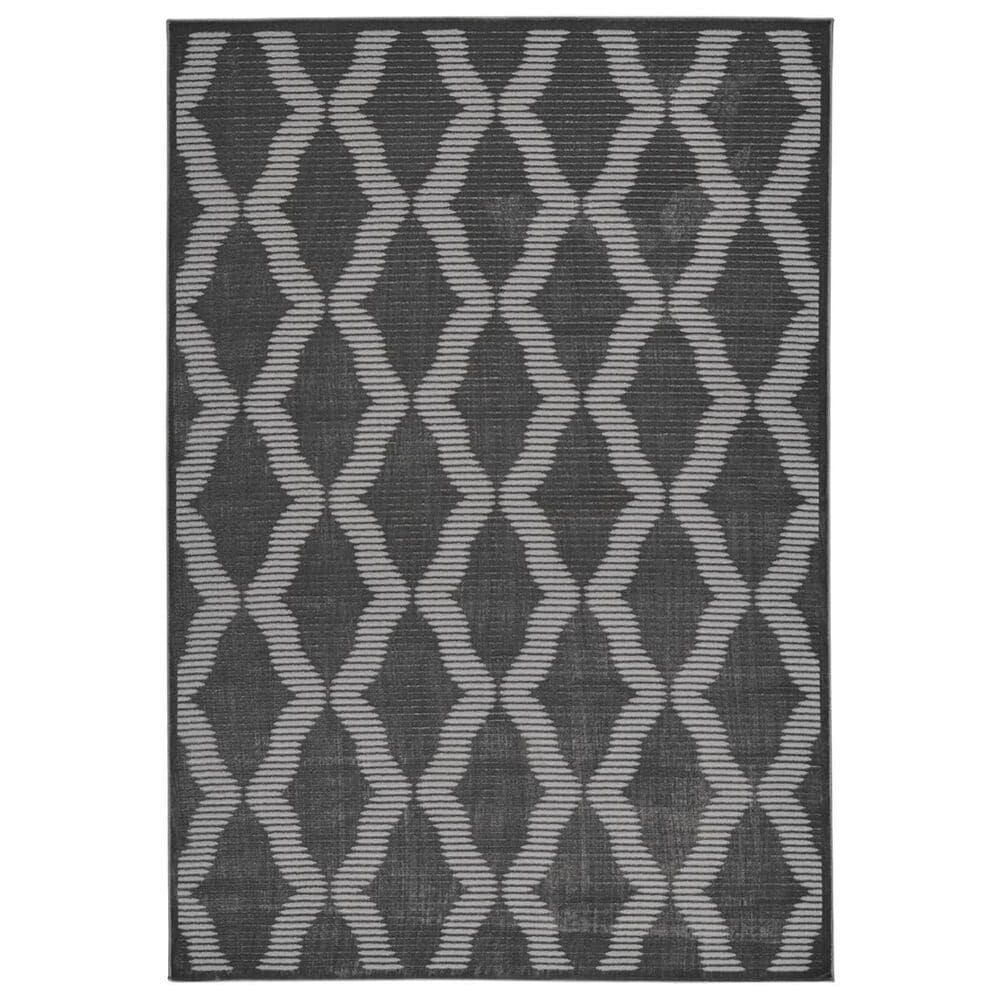 Feizy Rugs Prasad 3679F 5' x 8' Charcoal Area Rug, , large