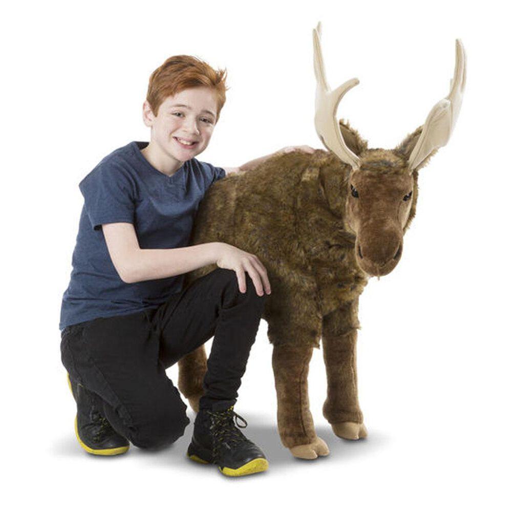 Melissa & Doug Lifelike Plush Moose, , large