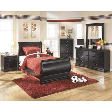Signature Design by Ashley Huey Vineyard 4 Piece Twin Bedroom Set in Black, , large
