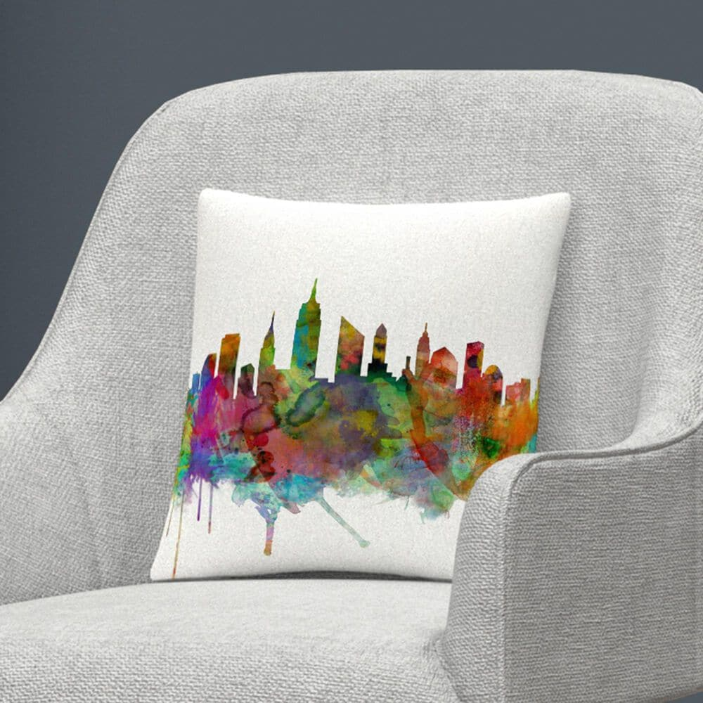 Timberlake Michael Tompsett 'New York City Skyline' 16 x 16 Decorative Throw Pillow, , large