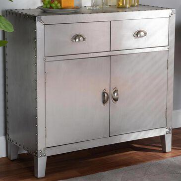 Baxton Studio Romain 2-Door Accent Storage Cabinet in Silver, , large