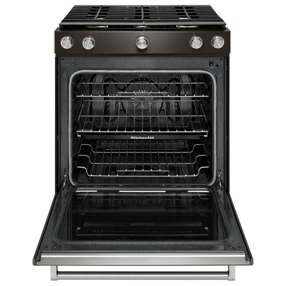 "KitchenAid 30"" 5.8 Cu. Ft. Gas Range in Black Stainless Steel, , large"
