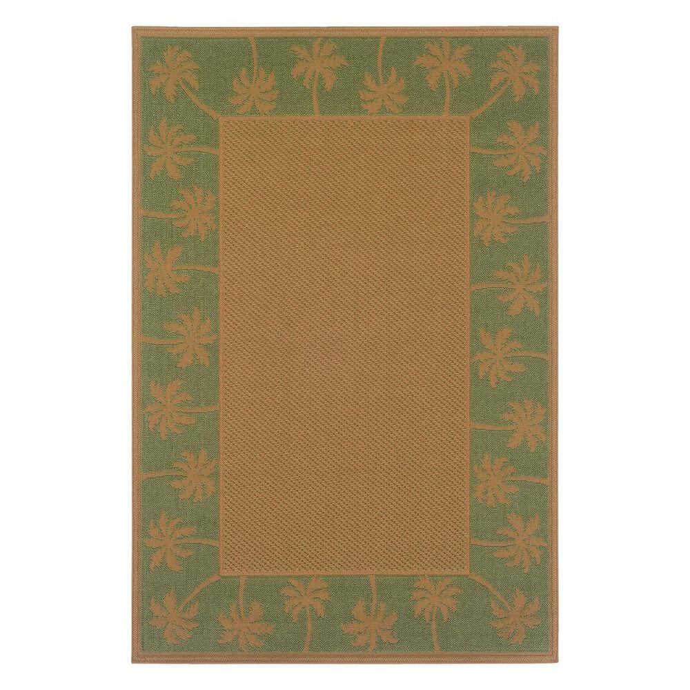 "Oriental Weavers Lanai 606F 1'8"" x 3'7"" Beige/Green Scatter Rug, , large"