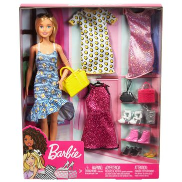 Mattel Barbie Doll with Fashions and Accessories, , large