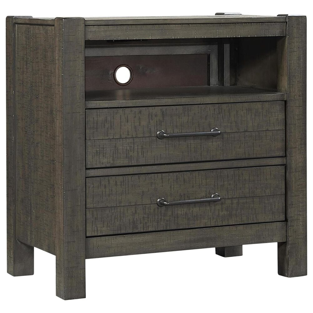 Riva Ridge Mill Creek 4 Piece Full Storage Bed Set with 2-Drawer Nightstand in Carob, , large