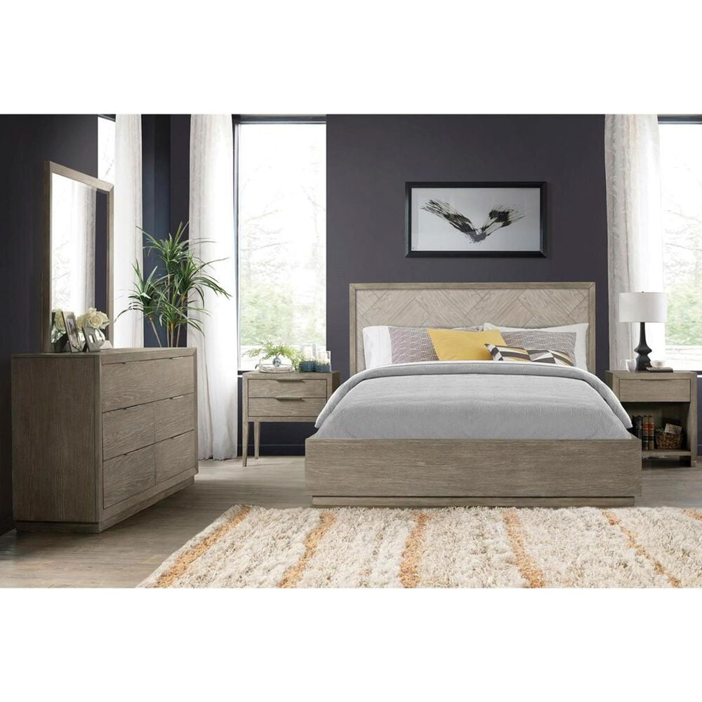 Shannon Hills Zoey Queen Panel 2-Side Storage Bed in Urban Gray and Light Gray, , large