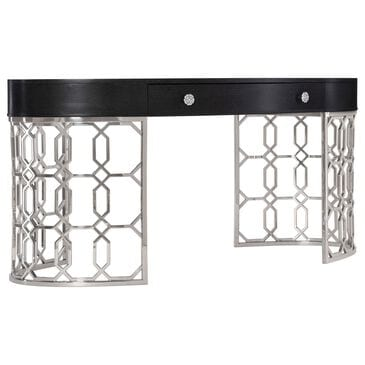 Bernhardt Silhouette Desk in Figured Onyx and Stainless Steel, , large