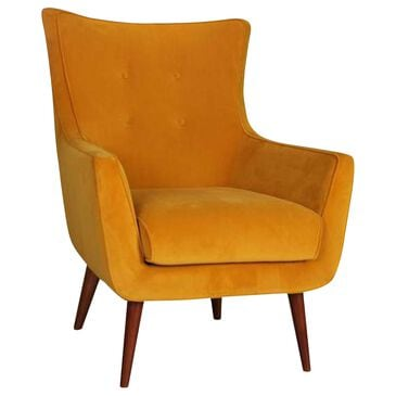 Urban Chic Kato Accent Chair in Velvet Yellow Maize , , large