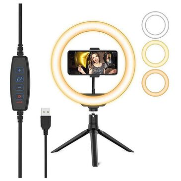 """Neontek 10"""" USB Powered Ring Light with 3 Light Modes and Smartphone Holder, , large"""