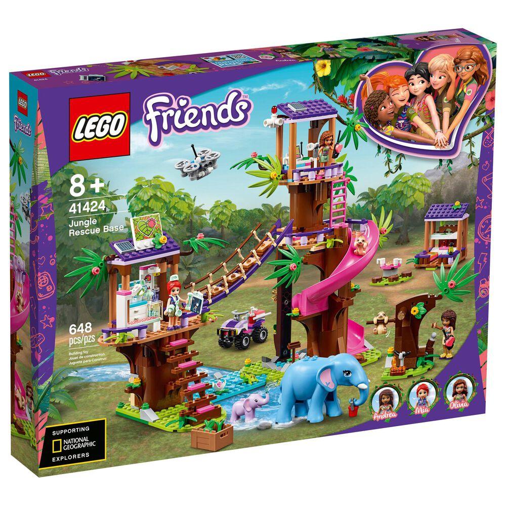 LEGO Friends Jungle Rescue Base Building Set, , large