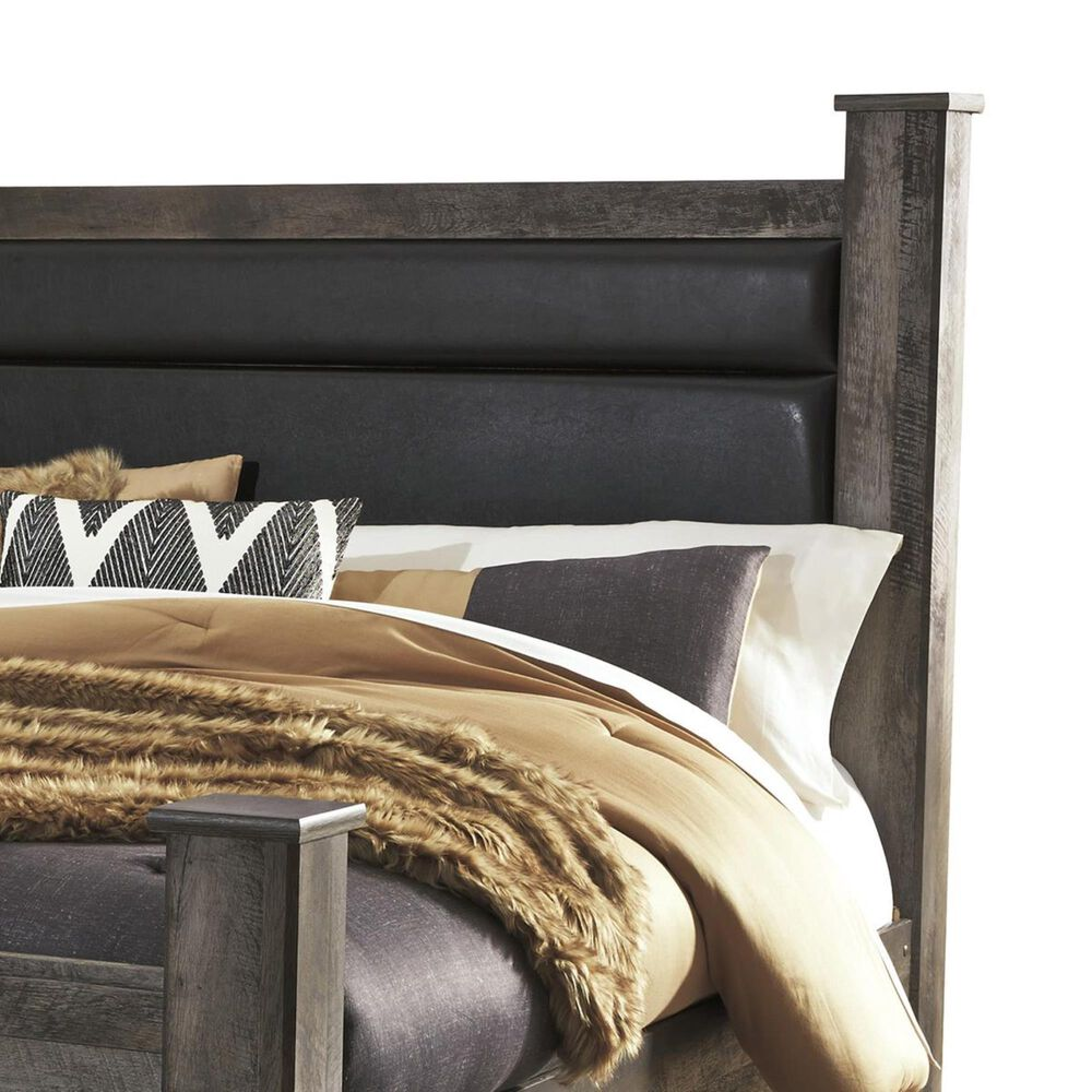 Signature Design by Ashley Wynnlow King Poster Bed in Gray, , large