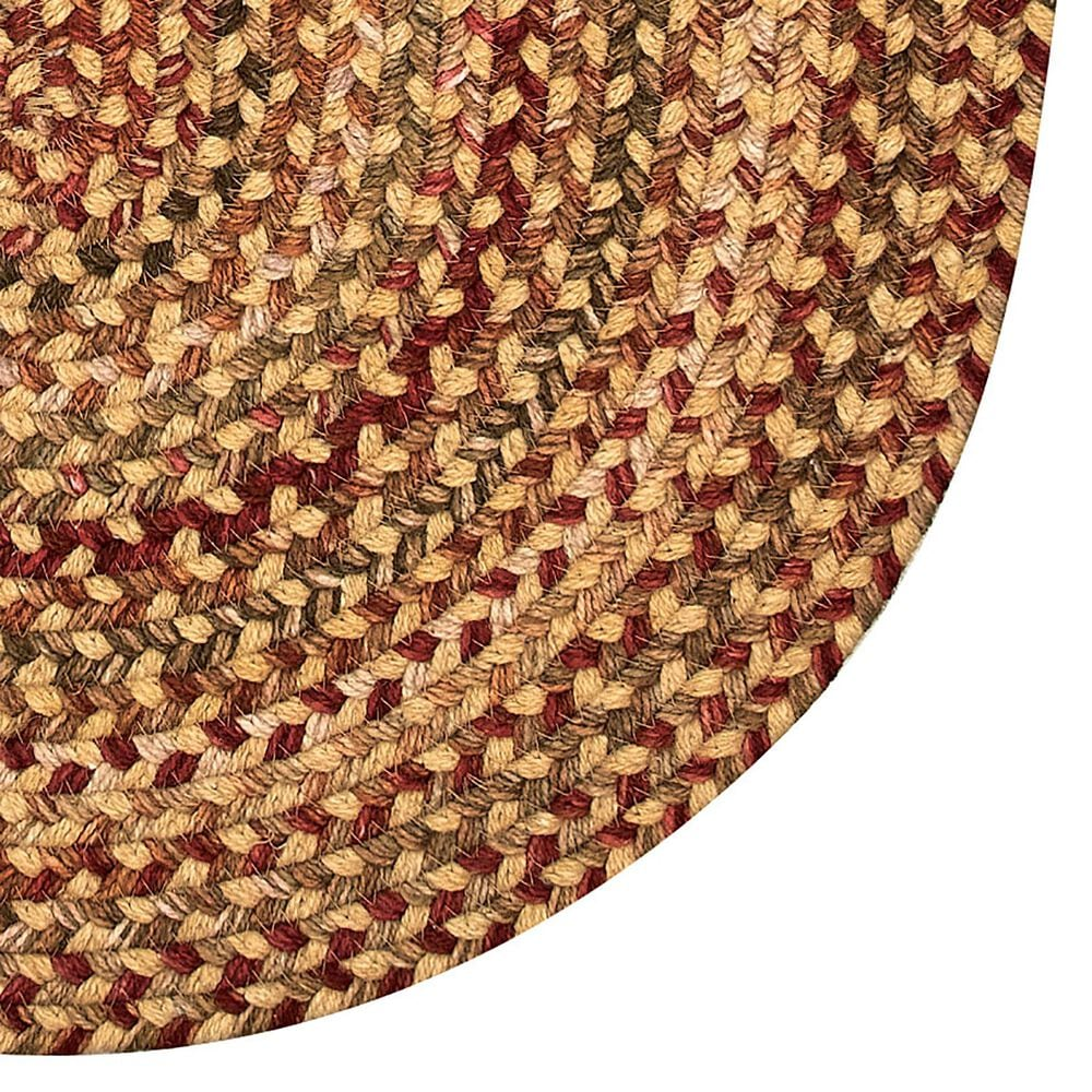Capel Homecoming 0048-100 3' x 5' Oval Wheatfield Area Rug, , large
