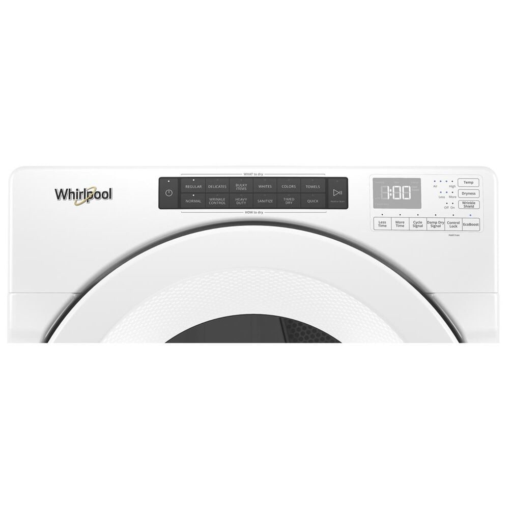 Whirlpool 7.4 Cu. Ft. Electric Dryer in White, , large