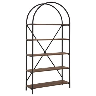 Signature Design by Ashley Galtbury Arched Bookcase in Brown and Black, , large