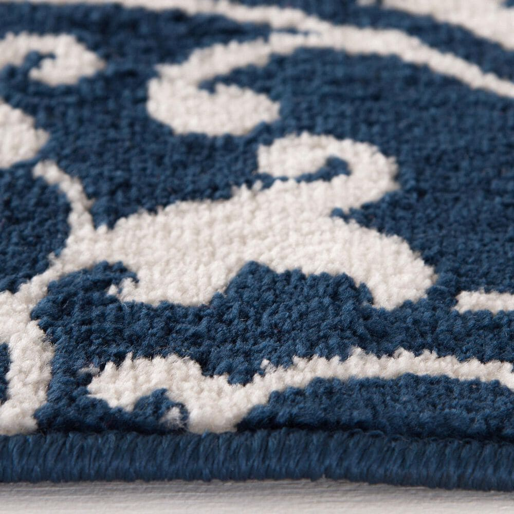 """Central Oriental Terrace Tropic Mcbee 2302PN.084 6'7"""" x 9'6"""" Sapphire and Snow Area Rug, , large"""