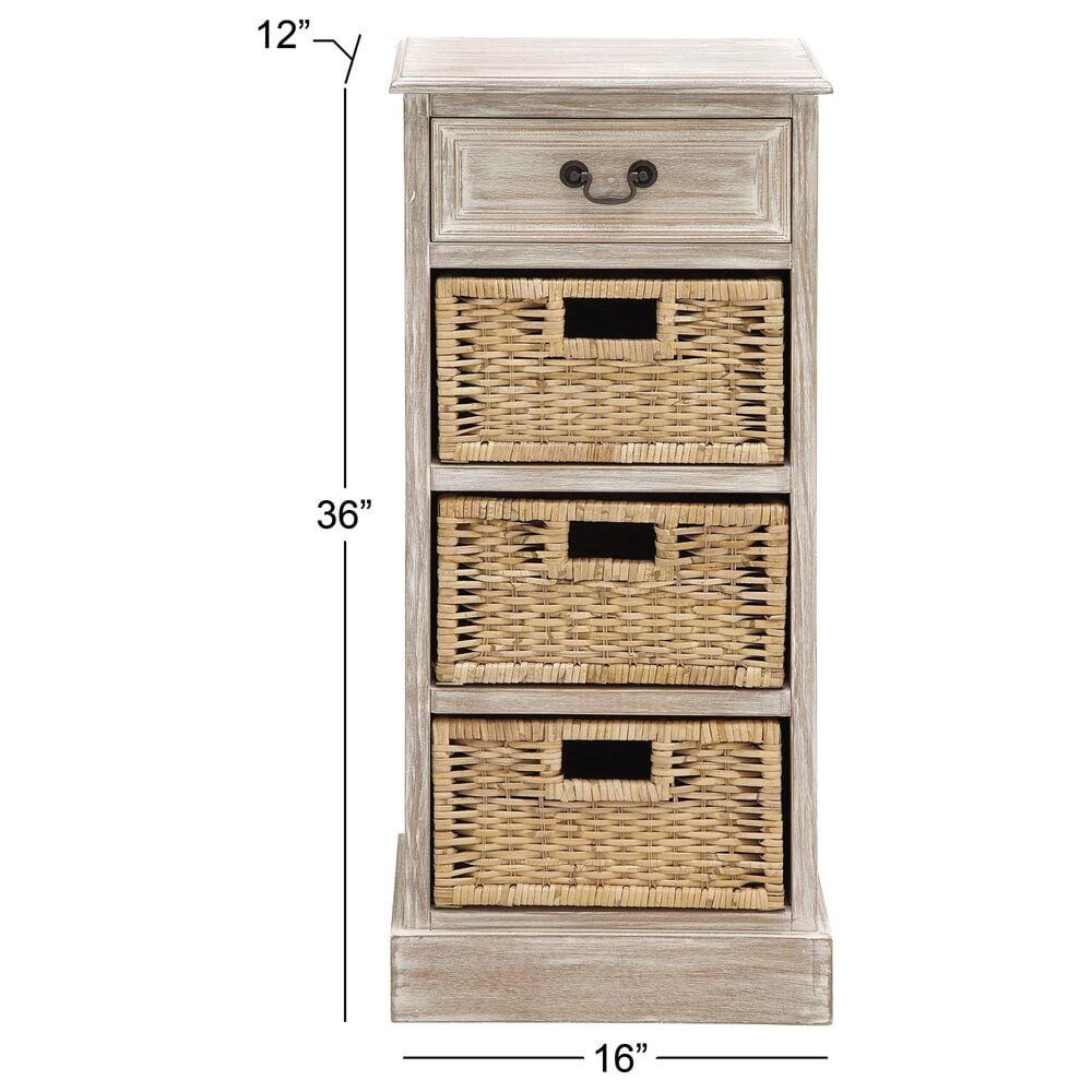 Maple and Jade 4-Drawer Storage Unit in Whitewashed Light Brown, , large