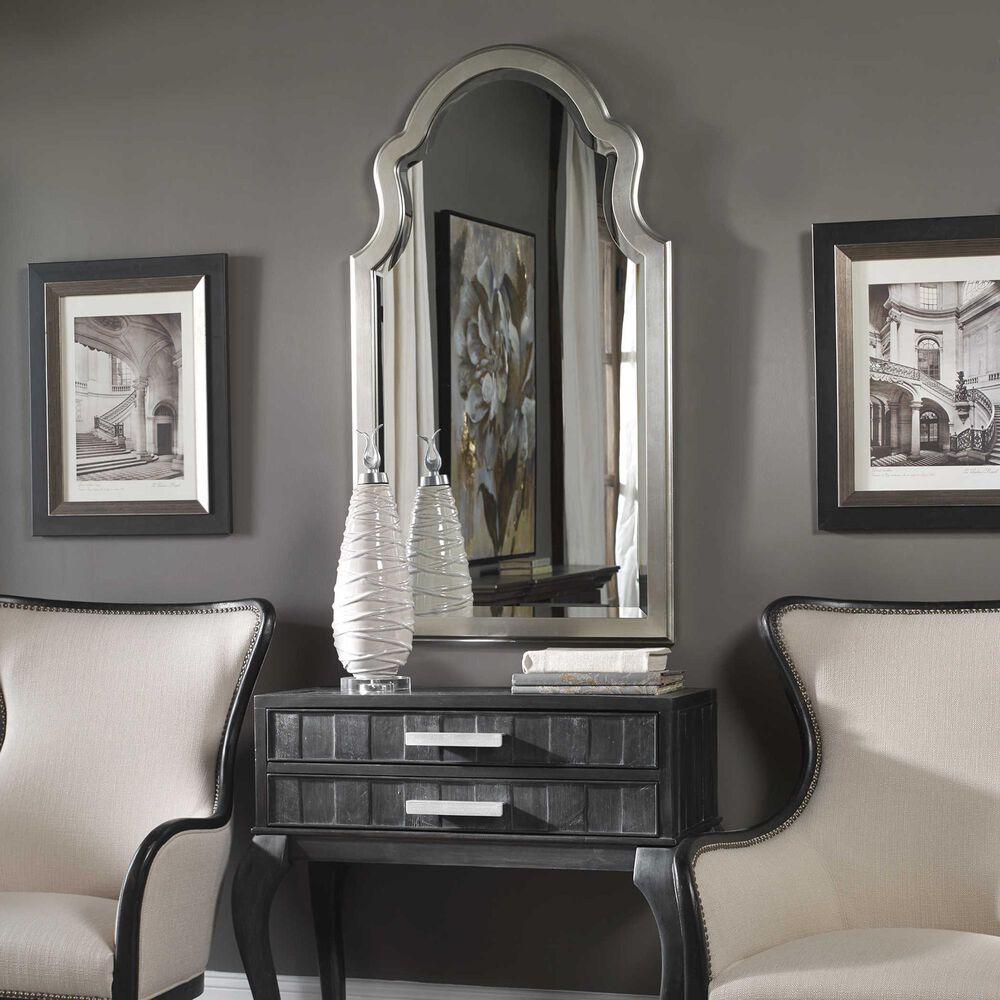 Uttermost Brayden Mirror in Silver Leaf, , large