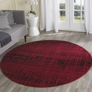 Safavieh Adirondack ADR116F 6' Round Red and Black Area Rug, , large