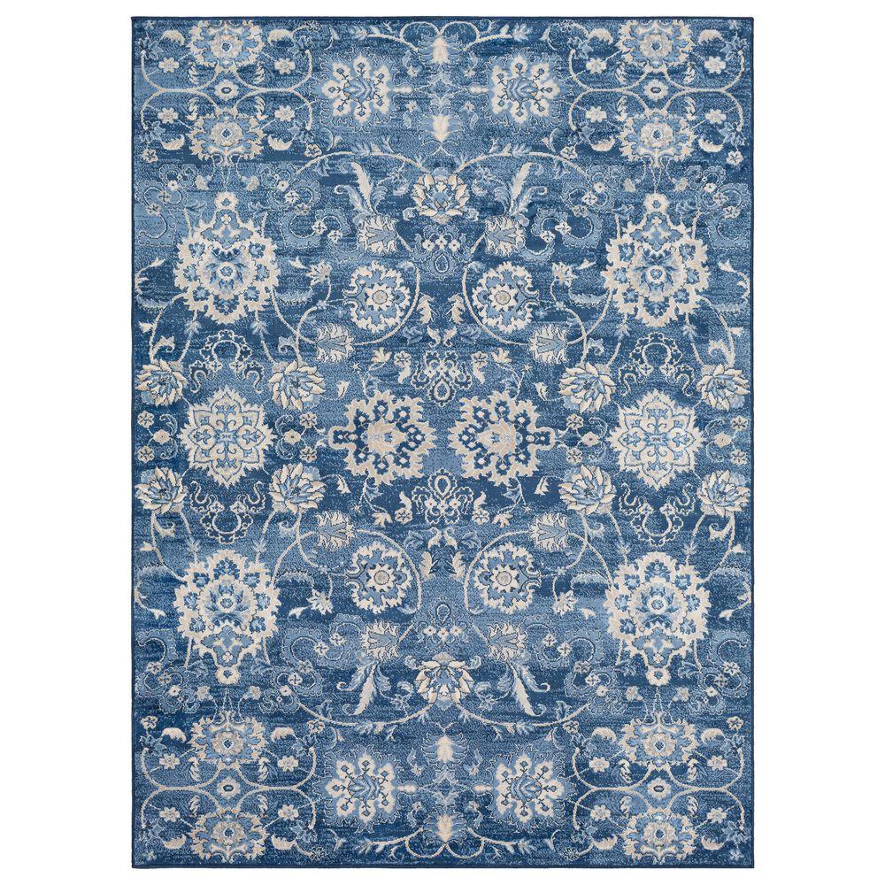 "Surya Monaco MOC-2307 4'3"" x 6' Bright Blue, Khaki and Gray Area Rug, , large"