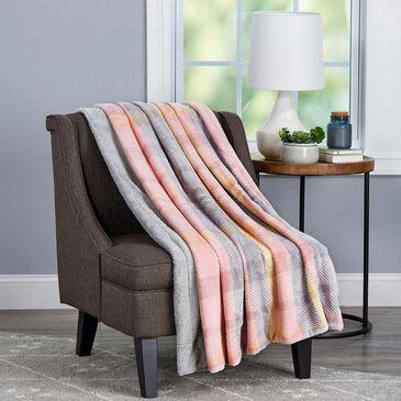 Timberlake Lavish Home Woven Polyester Sherpa Throw in Modern Blush, , large