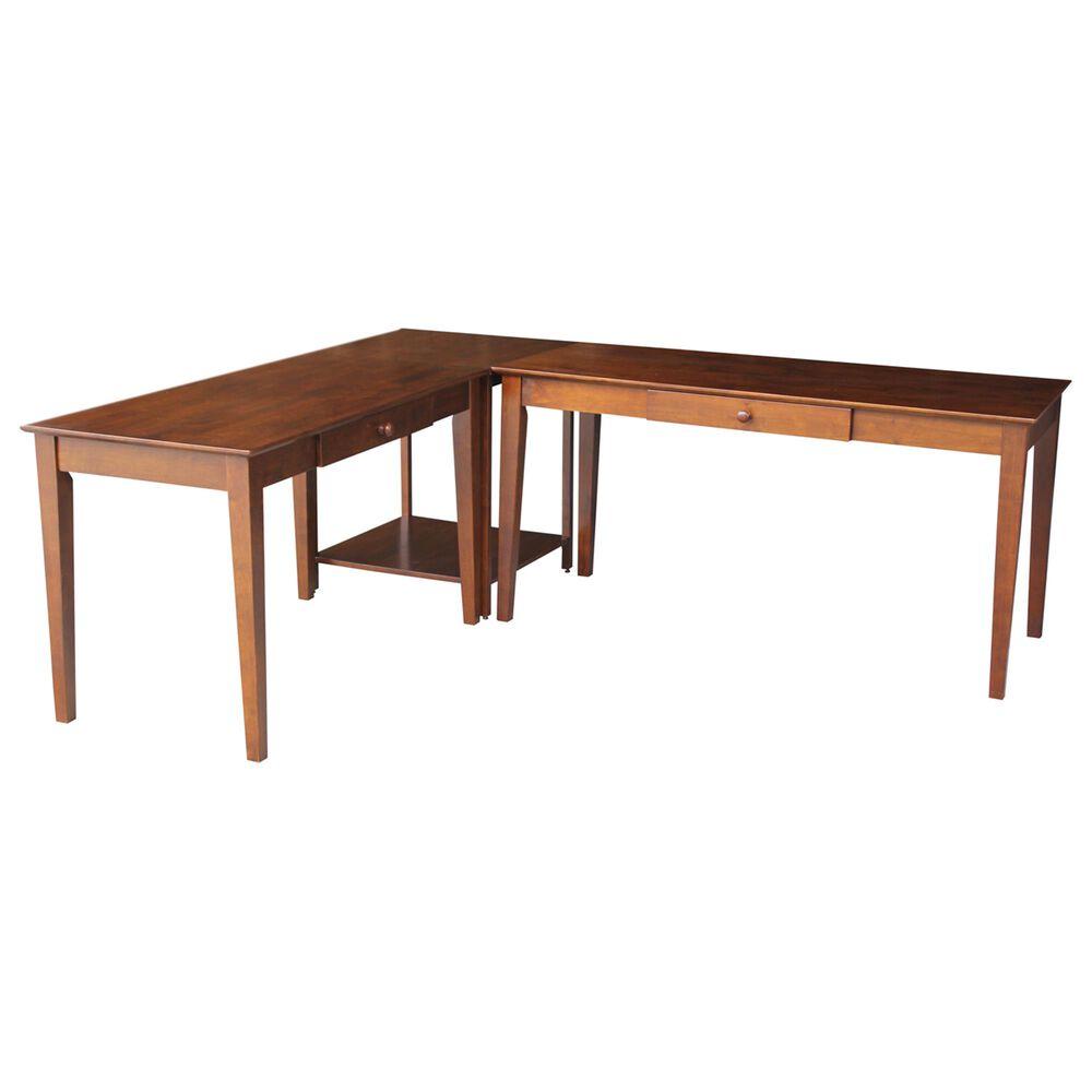 International Concepts 2-Piece Connecting Desks in Espresso, , large