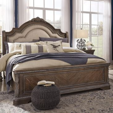 Signature Design by Ashley Charmond King Bed in Dark Brown, , large