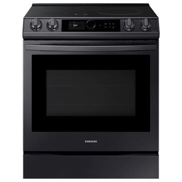 Samsung 6.3 Cu. Ft. Slide-In Induction Range with Wi-Fi and Air Fry in Black Stainless Steel, , large
