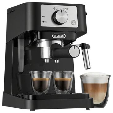 Delonghi Stilosa 15 Bar Pump Espresso Machine in Black and Stainless Steel, , large