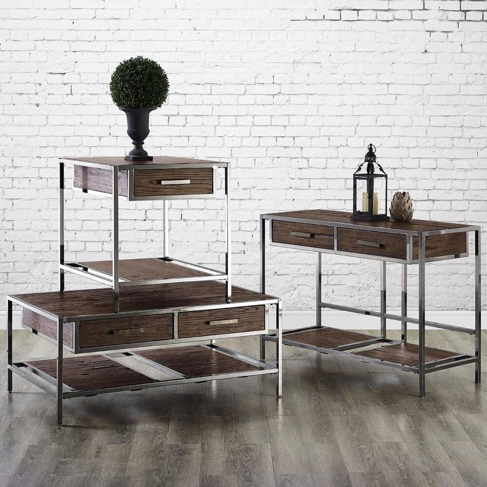 Accentric Approach Accentric Accents Benton End Table in Brown, , large