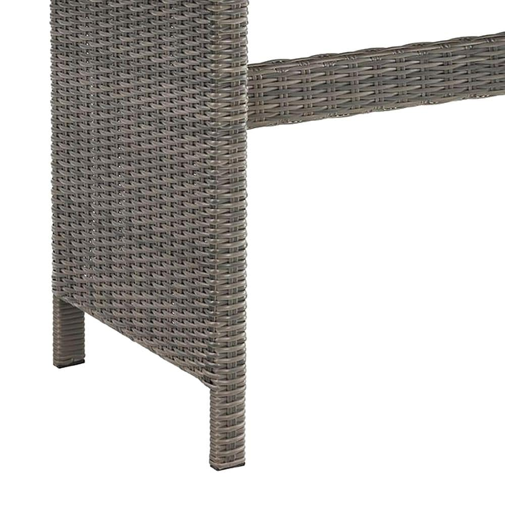 """Bolton Furniture Asti 30"""" Rectangle Patio Dining Table in Gray, , large"""