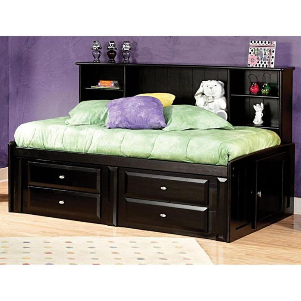 Timber Point Laguna Twin Roomsaver Bed in Black Cherry, , large