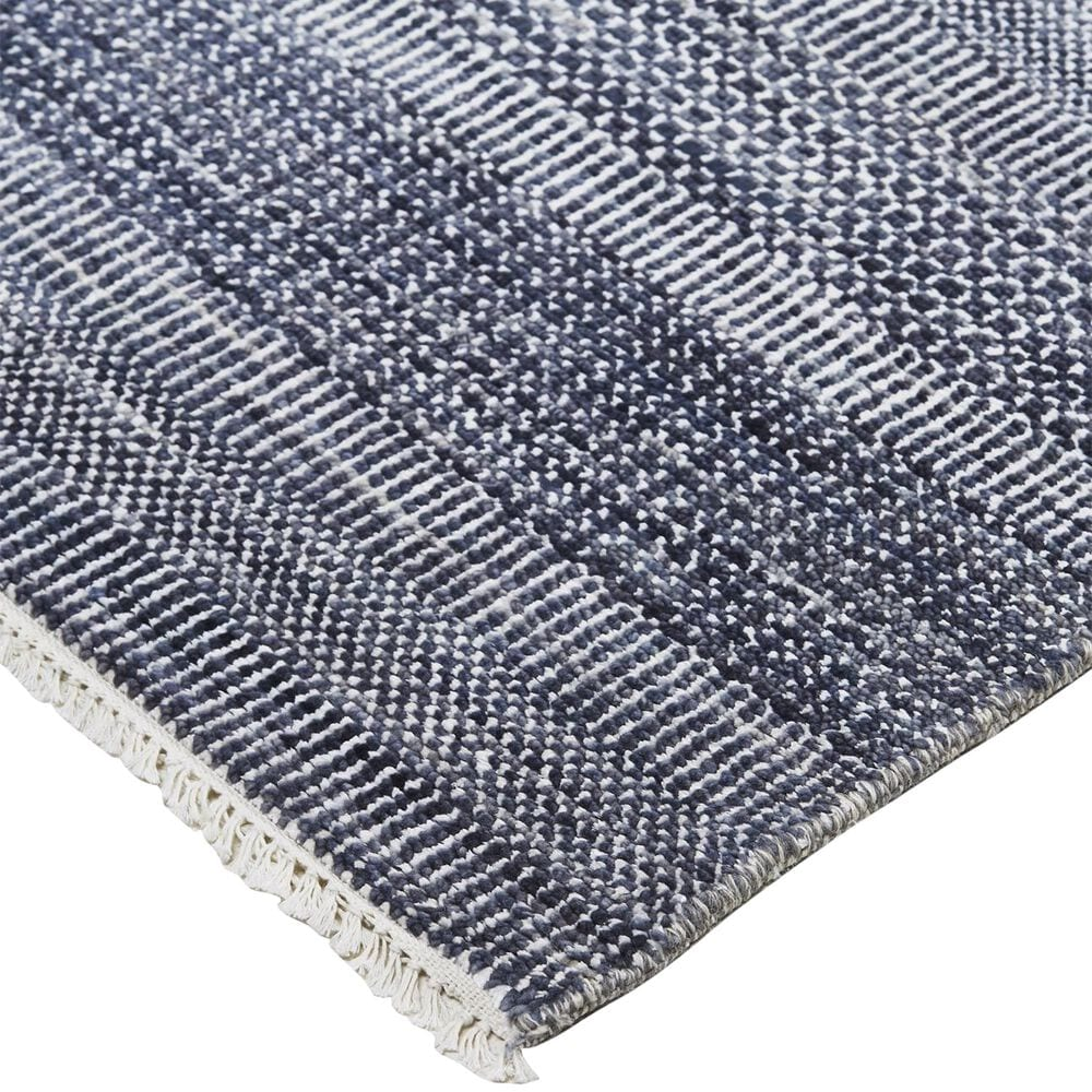 """Feizy Rugs Janson I6062 2'6"""" x 12' Navy and Silver Runner, , large"""