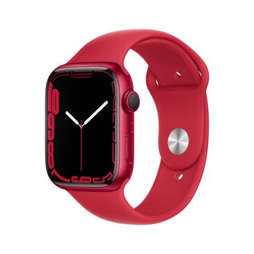 Apple Watch Series 7 (GPS) 45mm (PRODUCT)RED Aluminum Case with (PRODUCT)RED Sport Band, , large
