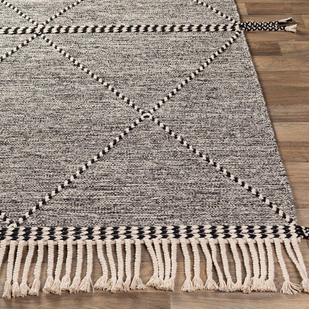 Surya Zanafi ZNF-2301 2' x 3' Black and Cream Area Rug, , large