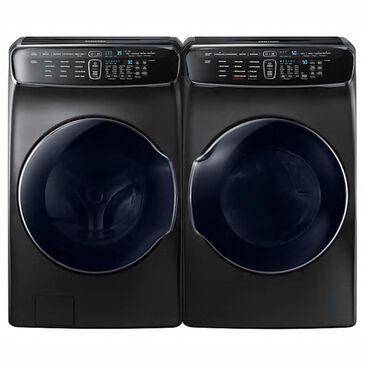Samsung 6.0 Cu. Ft. Front Load FlexWash Washer and 7.5 Cu. Ft. FlexDry Electric Dryer in Black Stainless Steel, Black Stainless Steel, large