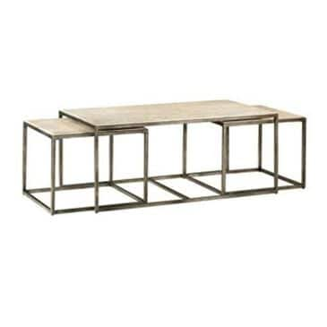 Hammary Travertine Top Coffee Table, , large