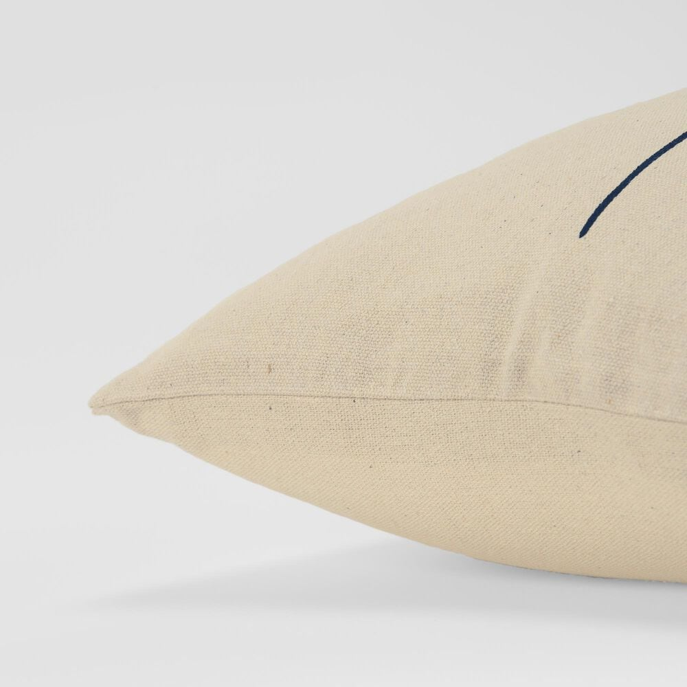 """Rizzy Home Sentiment 20"""" Down Filled Pillow in Natural, , large"""