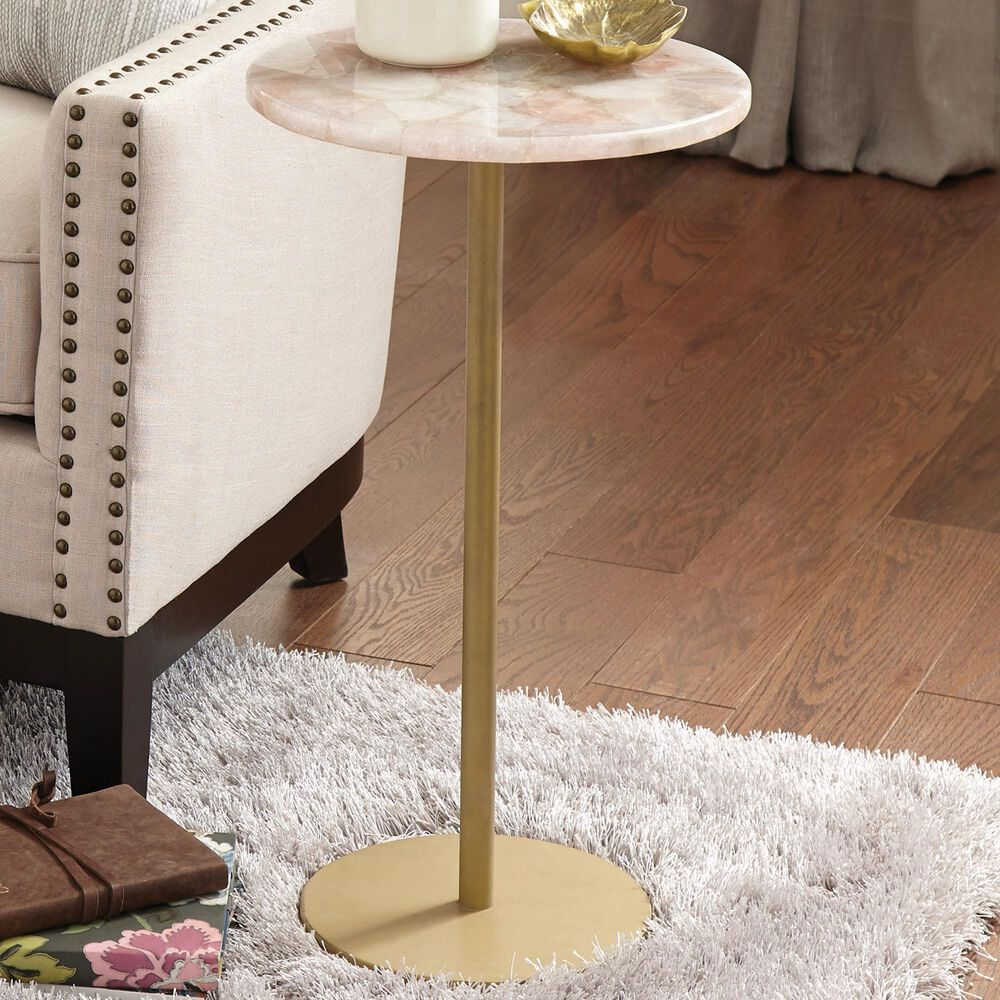 Steve Silver Rosie Rose Chairside End Table in Rose, , large
