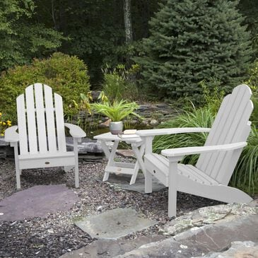Highwood USA Classic Westport 3-Piece Adirondack Chair Set in White, , large