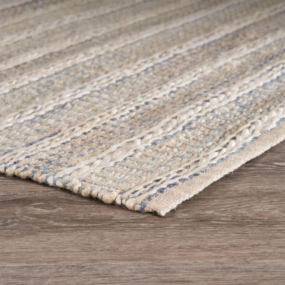 L&R Resources Bleached Naturals 2' x 3' Blue Area Rug, , large