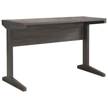 Living Essentials Desk in Distressed Grey, , large