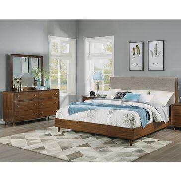 Flexsteel Ludwig 3 Piece Queen Bedroom Set in Walnut, , large