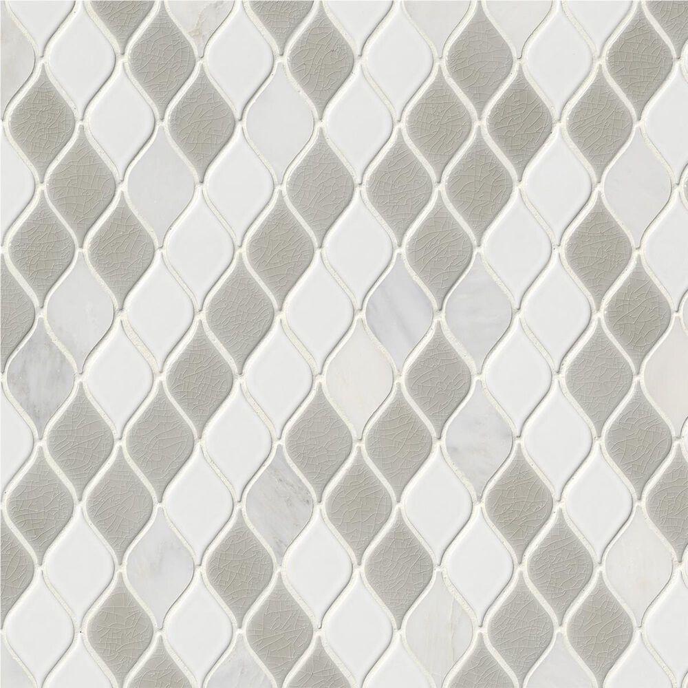 "MS International Cresta White and Gray 12"" x 12"" Porcelain Mosaic Sheet, , large"