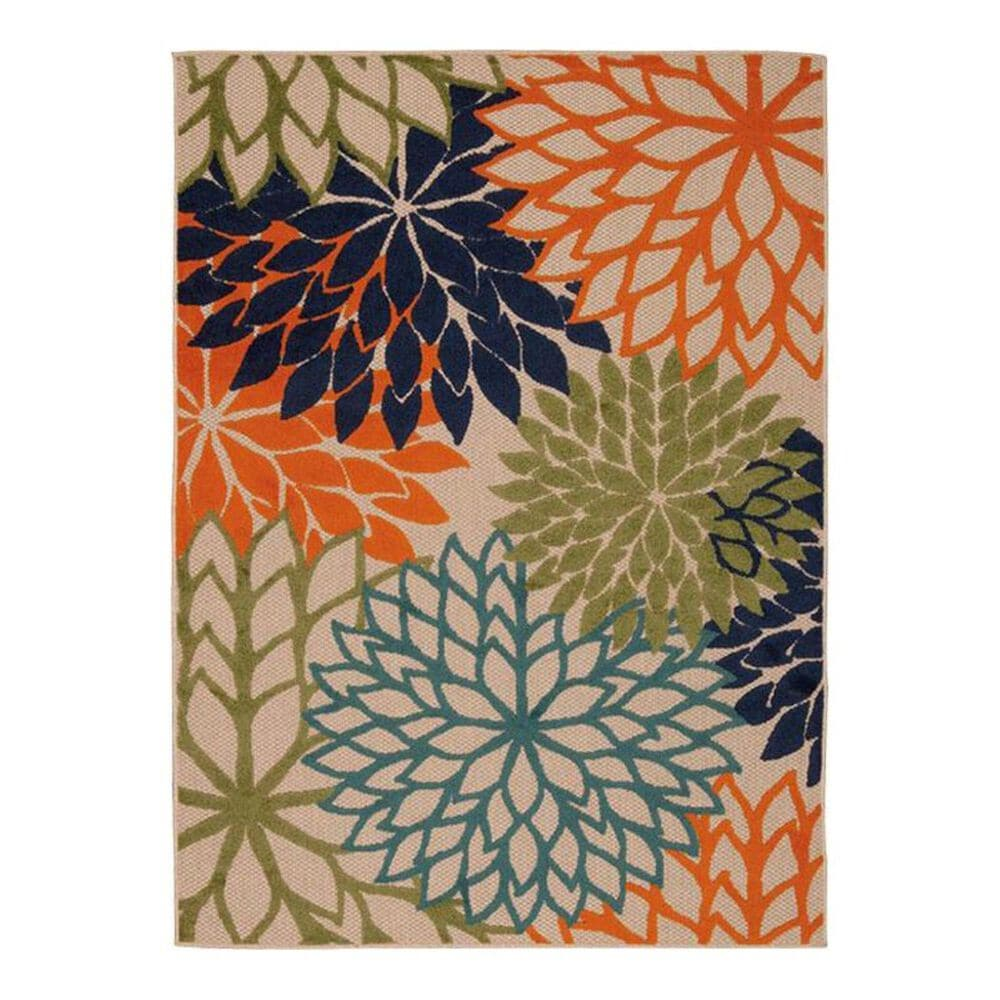 "Nourison Aloha ALH05 7'10"" x 10'6"" Multicolor Area Rug, , large"