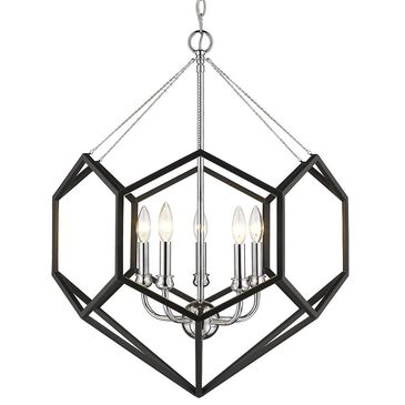 Golden Lighting Damina 5-Light Chandelier in Chrome, , large