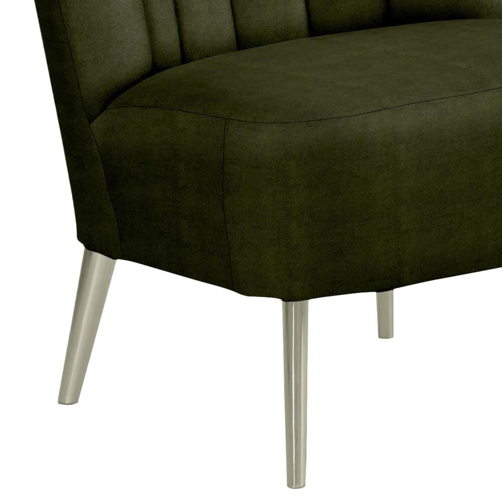 Best Home Furnishings Ameretta Accent Chair in Dark Moss and Brushed Nickle, , large