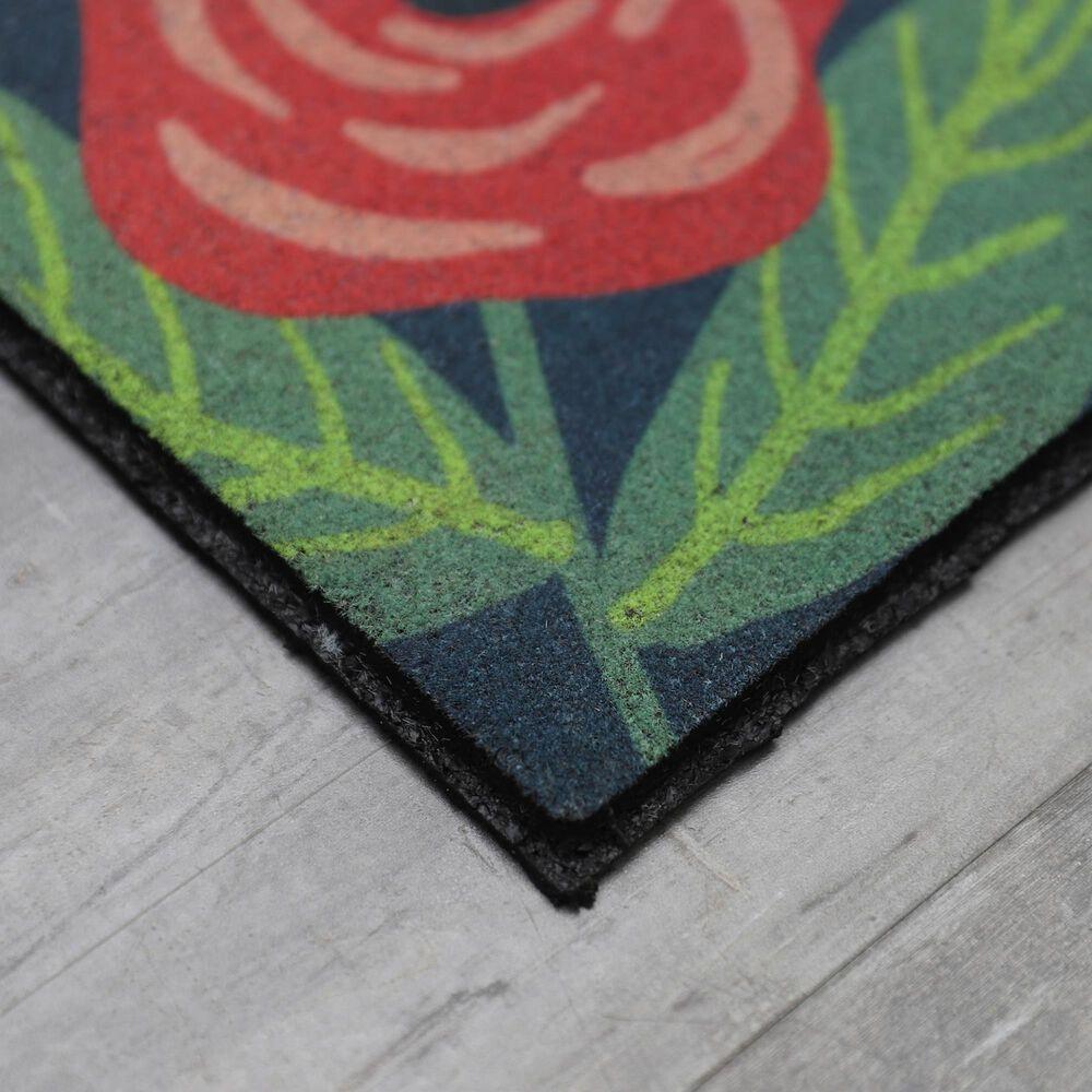 "Karastan Doorscapes 1'6"" x 2'6"" Blue and Green Door Mat, , large"