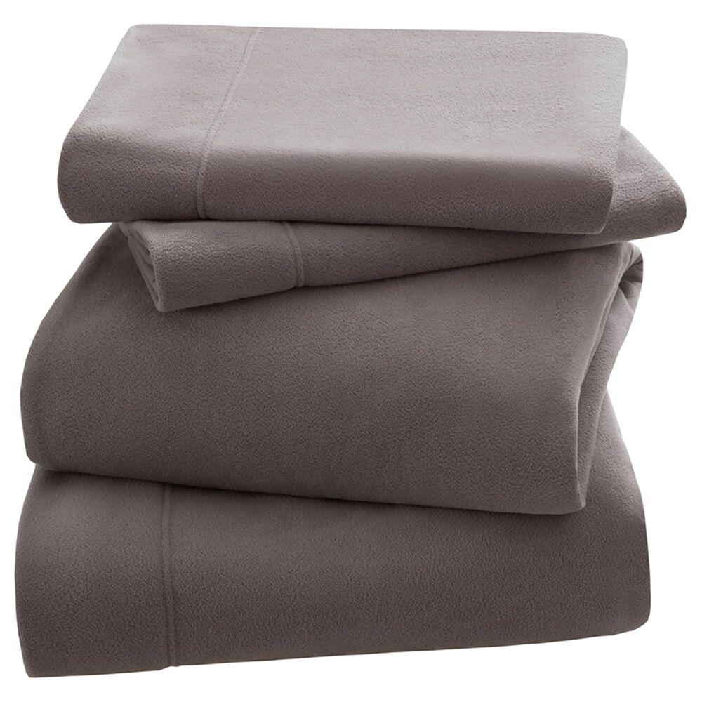 Hampton Park 3M Scotchgard Micro Fleece 3-Piece Twin Sheet Set in Grey, , large