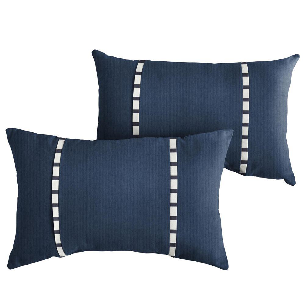 "Sorra Home Sunbrella 12"" x 24"" Pillow in Spectrum Indigo (Set of 2), , large"