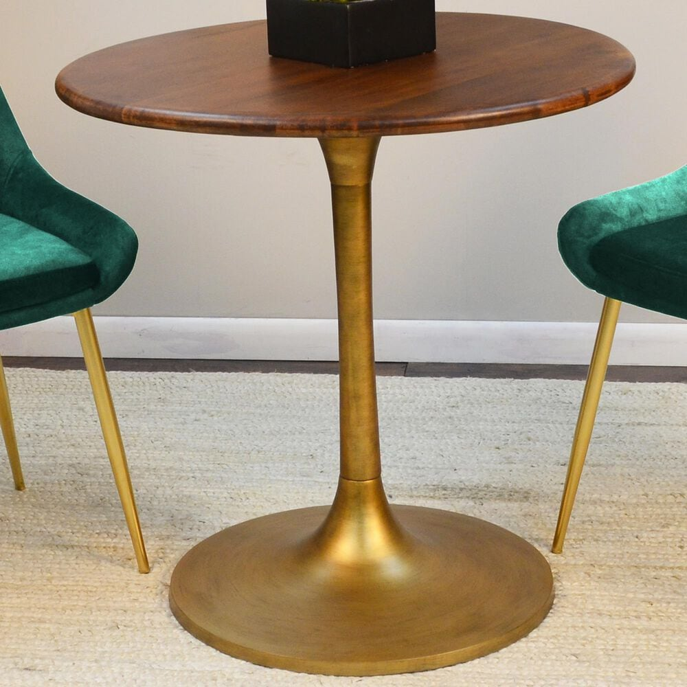 """Carolina Chair and Table Alden 30"""" Dining Table in Elm/Antique Gold, , large"""